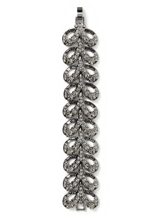 Radiant Tassel Bracelet Hematite - predominant colour: silver; occasions: evening, occasion; style: chain; size: standard; material: chain/metal; finish: metallic; embellishment: crystals/glass; season: s/s 2016; wardrobe: event