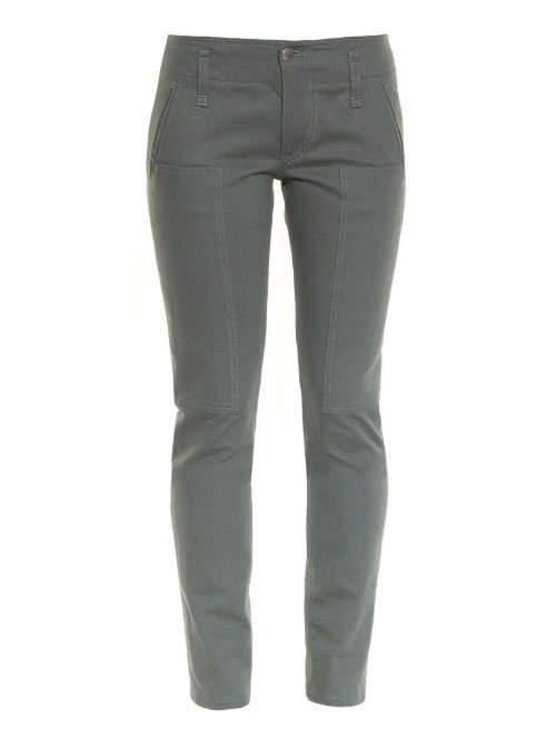 Skinny Leg Cargo Jeans - style: skinny leg; length: standard; pattern: plain; waist: mid/regular rise; predominant colour: mid grey; occasions: casual, creative work; fibres: cotton - stretch; texture group: denim; pattern type: fabric; season: s/s 2016; wardrobe: highlight