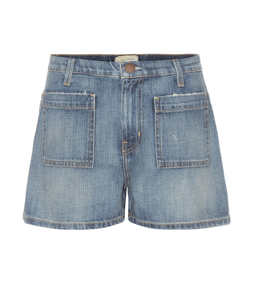The Westward Denim Shorts - pattern: plain; hip detail: draws attention to hips; waist: mid/regular rise; predominant colour: denim; occasions: casual, creative work; fibres: cotton - stretch; texture group: denim; pattern type: fabric; season: s/s 2016; style: denim; length: short shorts; fit: slim leg; wardrobe: highlight
