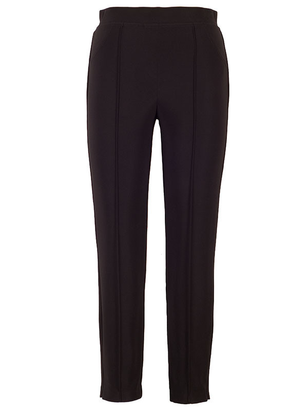 Joseph Ribkoff Black Jersey Trouser - length: standard; pattern: plain; waist: mid/regular rise; predominant colour: black; fibres: polyester/polyamide - stretch; fit: slim leg; pattern type: fabric; texture group: jersey - stretchy/drapey; style: standard; occasions: creative work; season: s/s 2016