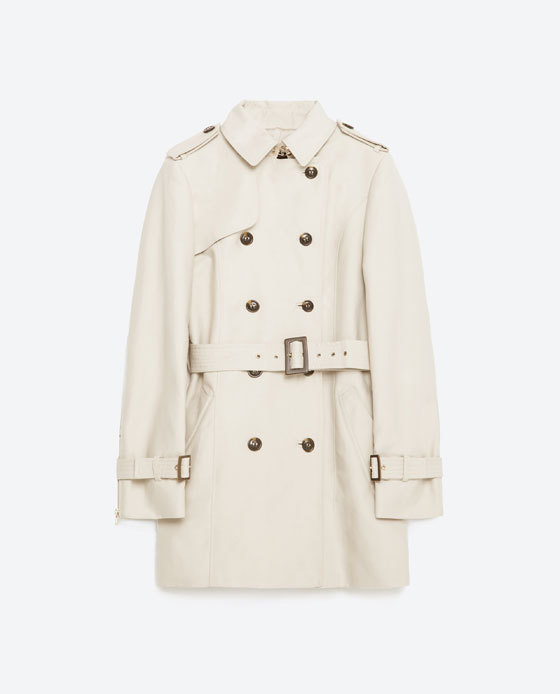 Cotton Trench Coat - pattern: plain; length: below the bottom; style: trench coat; predominant colour: white; occasions: casual, creative work; fit: tailored/fitted; fibres: cotton - 100%; collar: shirt collar/peter pan/zip with opening; waist detail: belted waist/tie at waist/drawstring; sleeve length: long sleeve; sleeve style: standard; collar break: high; pattern type: fabric; texture group: woven light midweight; season: s/s 2016; wardrobe: basic