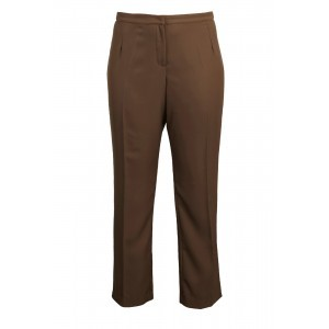 Tailoring Trousers - pattern: plain; waist: mid/regular rise; predominant colour: chocolate brown; occasions: casual; length: ankle length; fibres: cotton - mix; texture group: cotton feel fabrics; fit: slim leg; pattern type: fabric; style: standard; season: s/s 2016; wardrobe: basic