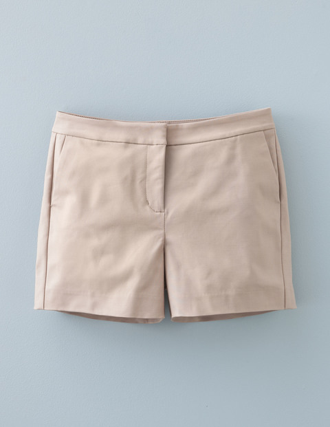 Richmond Shorts Biscuit Women, Biscuit - pattern: plain; waist: mid/regular rise; predominant colour: stone; occasions: casual, creative work; fibres: cotton - 100%; texture group: cotton feel fabrics; pattern type: fabric; season: s/s 2016; wardrobe: basic; style: shorts; length: short shorts; fit: slim leg