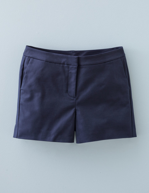 Richmond Shorts Navy Women, Navy - pattern: plain; waist: high rise; predominant colour: navy; fibres: cotton - stretch; waist detail: feature waist detail; texture group: cotton feel fabrics; pattern type: fabric; occasions: creative work; season: s/s 2016; wardrobe: basic; style: shorts; length: short shorts; fit: slim leg