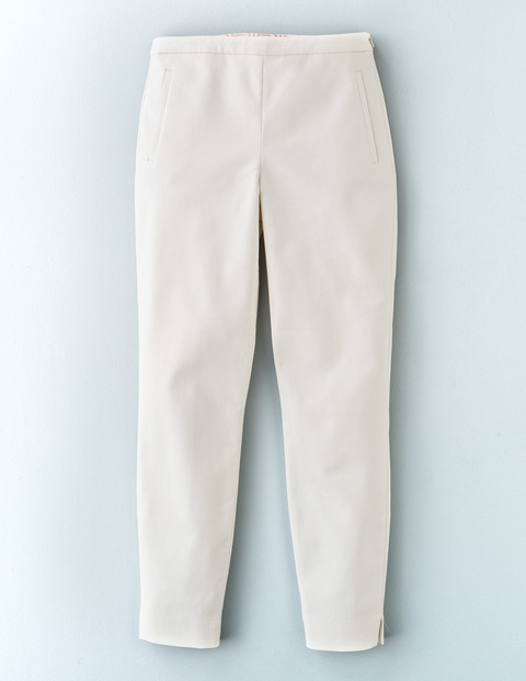 Twickenham Cigarette Trouser Ivory Women, Ivory - length: standard; pattern: plain; waist: mid/regular rise; predominant colour: ivory/cream; occasions: casual, creative work; fibres: cotton - stretch; waist detail: narrow waistband; fit: tapered; pattern type: fabric; texture group: woven light midweight; style: standard; season: s/s 2016
