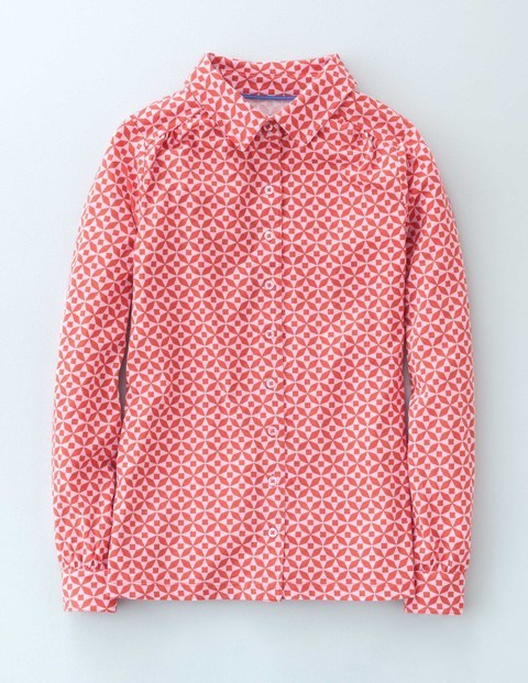 Jersey Shirt Reds Mosaic Women, Reds Mosaic - neckline: shirt collar/peter pan/zip with opening; style: shirt; secondary colour: white; predominant colour: true red; occasions: casual; length: standard; fibres: cotton - mix; fit: body skimming; sleeve length: long sleeve; sleeve style: standard; texture group: cotton feel fabrics; pattern type: fabric; pattern: patterned/print; multicoloured: multicoloured; season: s/s 2016