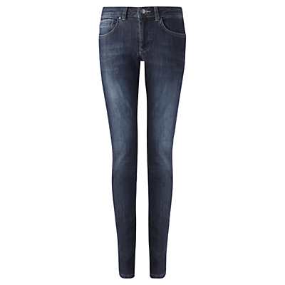 "Richmond 30"" Skinny Jeans, Indigo - style: skinny leg; length: standard; pattern: plain; pocket detail: traditional 5 pocket; waist: mid/regular rise; predominant colour: navy; occasions: casual; fibres: cotton - stretch; jeans detail: washed/faded; texture group: denim; pattern type: fabric; season: s/s 2016; wardrobe: basic"