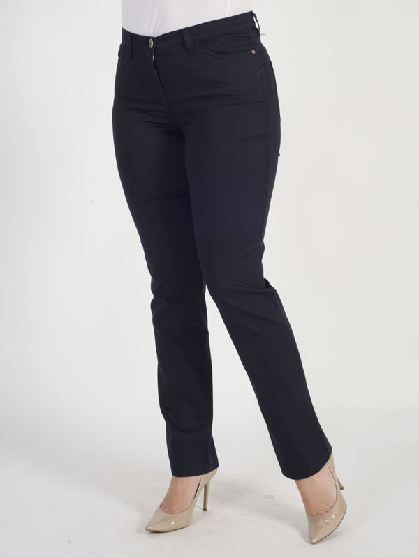 Michèle Magic Navy Soft Cotton Jeans – Regular - length: standard; pattern: plain; pocket detail: traditional 5 pocket; style: slim leg; waist: mid/regular rise; predominant colour: navy; occasions: casual; fibres: cotton - 100%; texture group: denim; pattern type: fabric; season: s/s 2016; wardrobe: basic