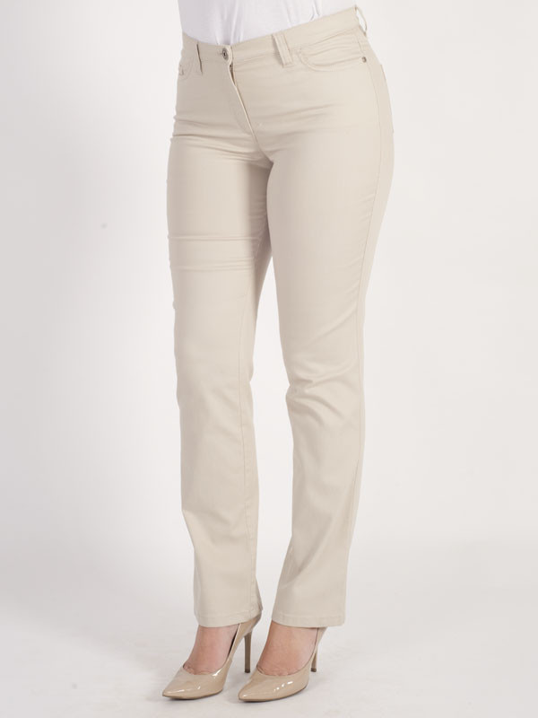 Michèle Magic Nude Soft Cotton Jean Regular - length: standard; pattern: plain; pocket detail: traditional 5 pocket; style: slim leg; waist: mid/regular rise; predominant colour: ivory/cream; occasions: casual; fibres: cotton - 100%; texture group: denim; pattern type: fabric; season: s/s 2016; wardrobe: highlight