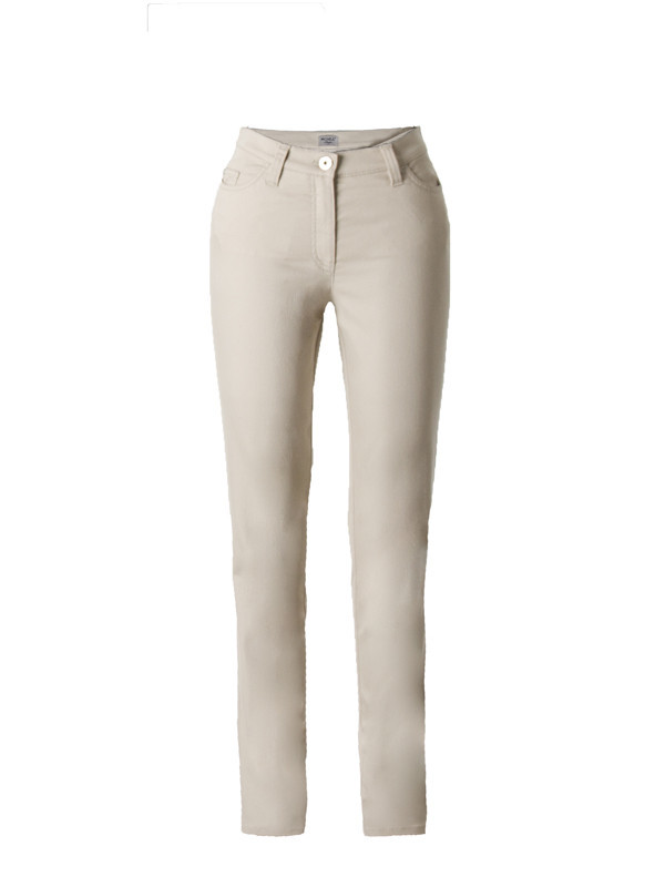 Michèle Magic Beige Soft Cotton Jeans – Short - length: standard; pattern: plain; pocket detail: traditional 5 pocket; style: slim leg; waist: mid/regular rise; predominant colour: ivory/cream; occasions: casual; fibres: cotton - 100%; texture group: denim; pattern type: fabric; season: s/s 2016; wardrobe: highlight
