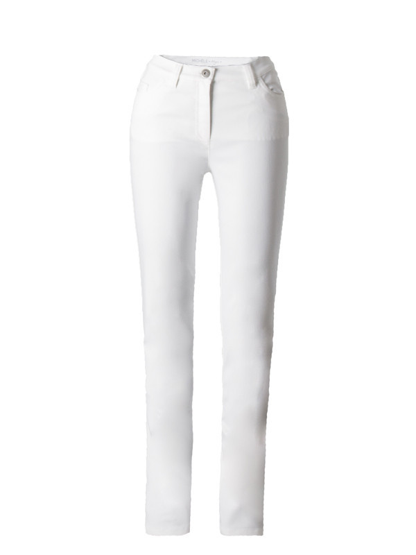 Michele Magic White Denim Jeans – Regular - length: standard; pattern: plain; waist: high rise; pocket detail: traditional 5 pocket; style: slim leg; predominant colour: white; occasions: casual; fibres: cotton - stretch; texture group: denim; pattern type: fabric; season: s/s 2016; wardrobe: highlight
