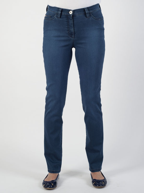 Michele Magic Dark Indigo Denim Jeans – Regular - style: skinny leg; length: standard; pattern: plain; pocket detail: traditional 5 pocket; waist: mid/regular rise; predominant colour: navy; occasions: casual; fibres: cotton - stretch; jeans detail: dark wash; texture group: denim; pattern type: fabric; season: s/s 2016; wardrobe: basic