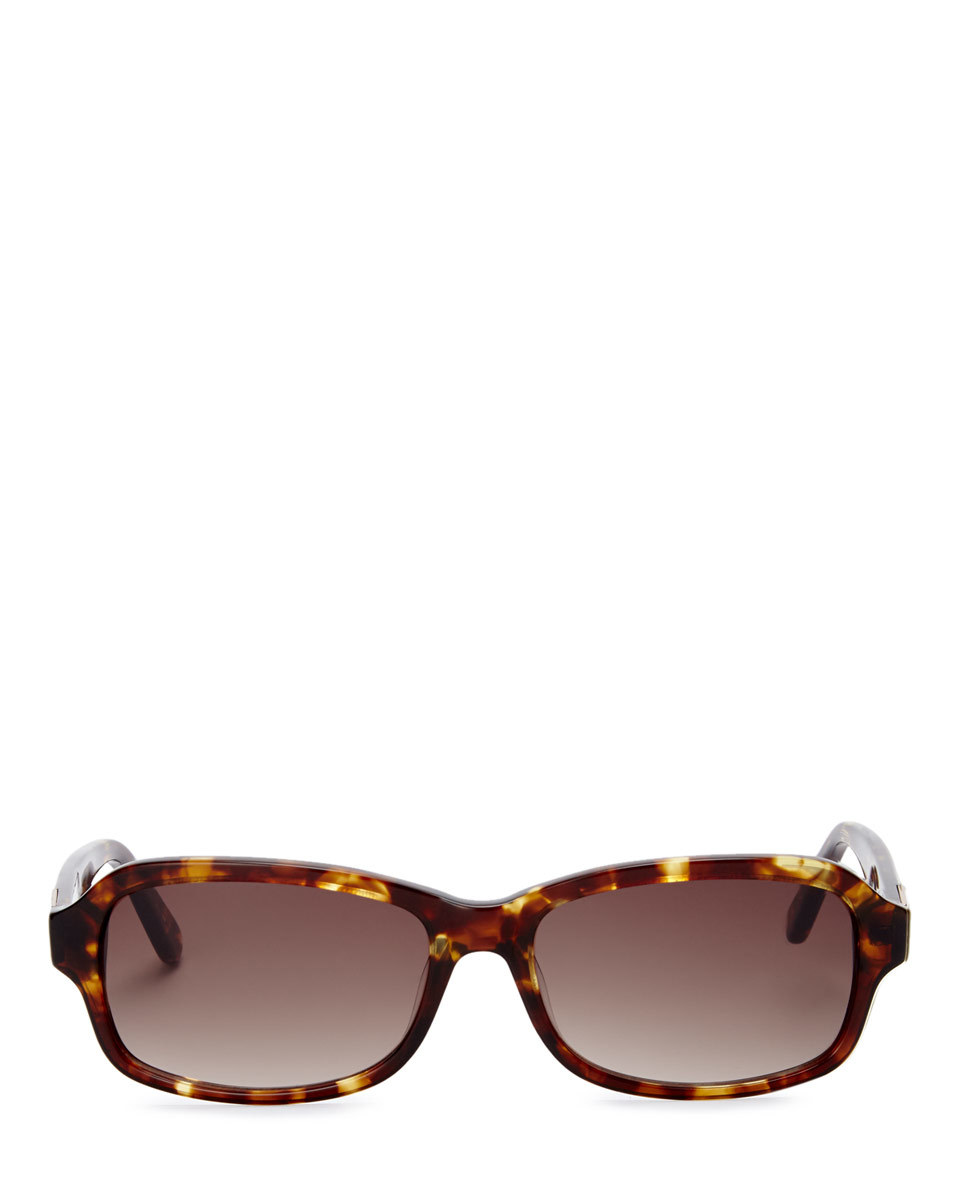 Charlotte Sunglasses - predominant colour: chocolate brown; style: square; size: standard; material: plastic/rubber; pattern: tortoiseshell; occasions: holiday; finish: plain; season: s/s 2016; wardrobe: basic