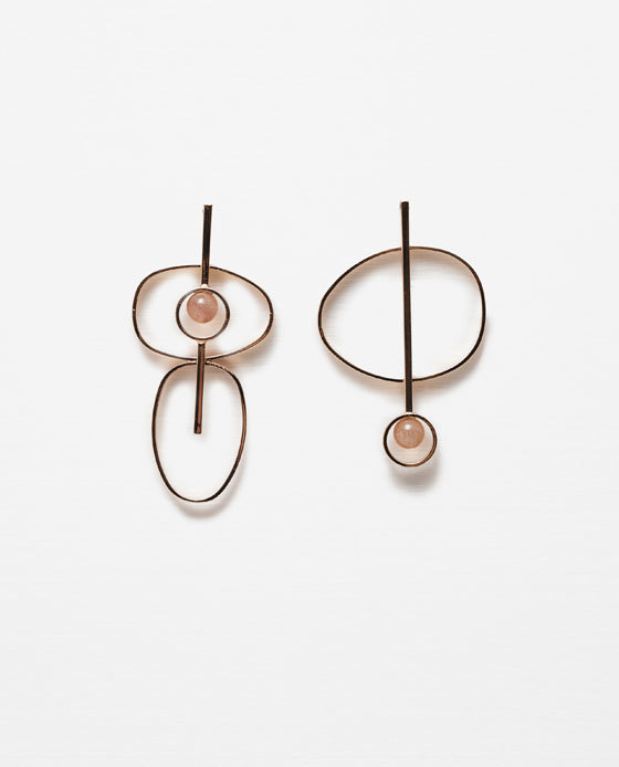Circular Earrings - predominant colour: gold; occasions: casual, evening, creative work; style: drop; length: long; size: large/oversized; material: chain/metal; fastening: pierced; finish: metallic; embellishment: pearls; season: s/s 2016; wardrobe: highlight