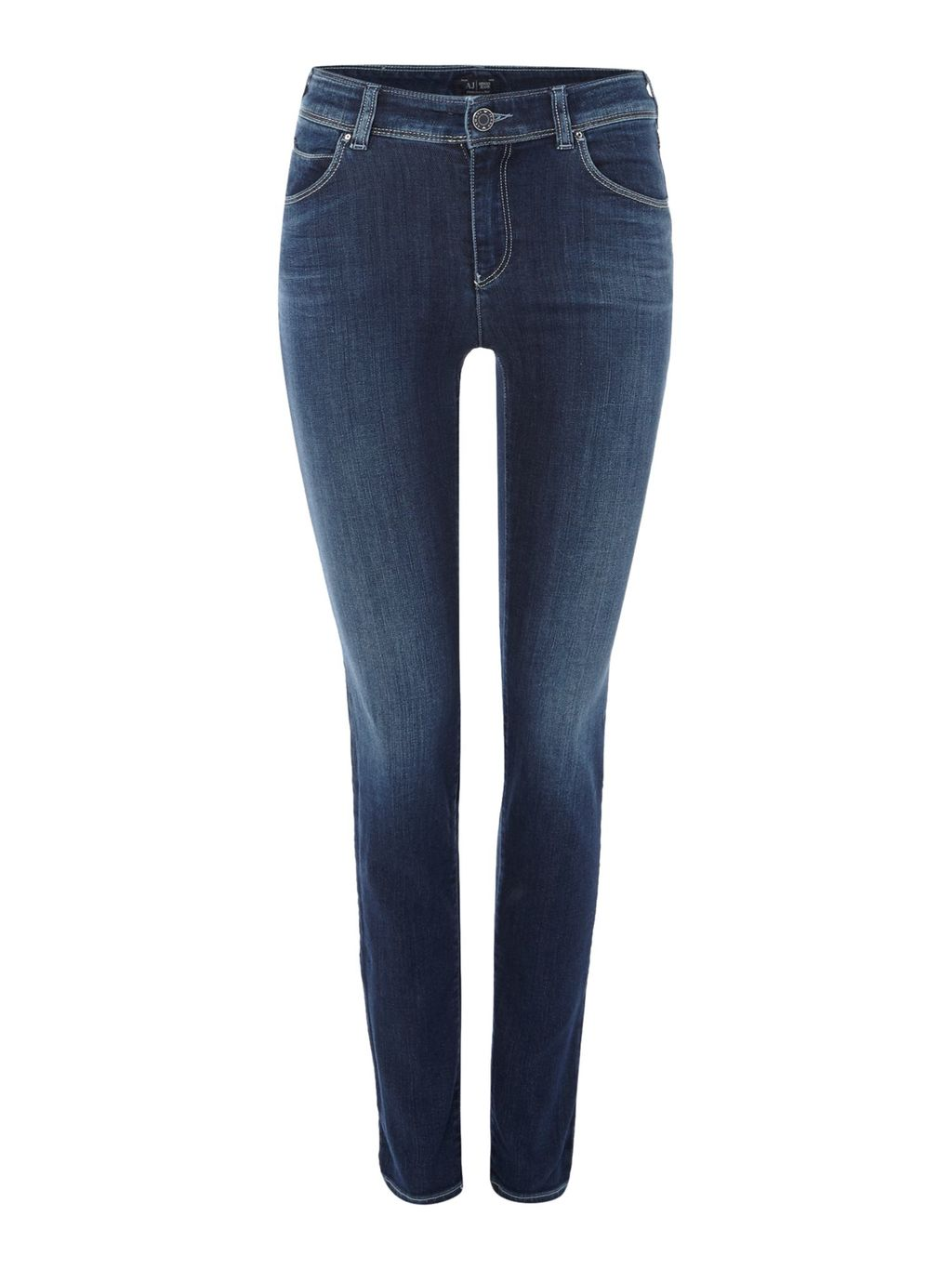 J20 Lilac High Rise Super Skinny Jean In Mid Wash, Denim Mid Wash - style: skinny leg; length: standard; pattern: plain; pocket detail: traditional 5 pocket; waist: mid/regular rise; predominant colour: denim; occasions: casual; fibres: cotton - stretch; jeans detail: shading down centre of thigh; texture group: denim; pattern type: fabric; season: s/s 2016; wardrobe: basic