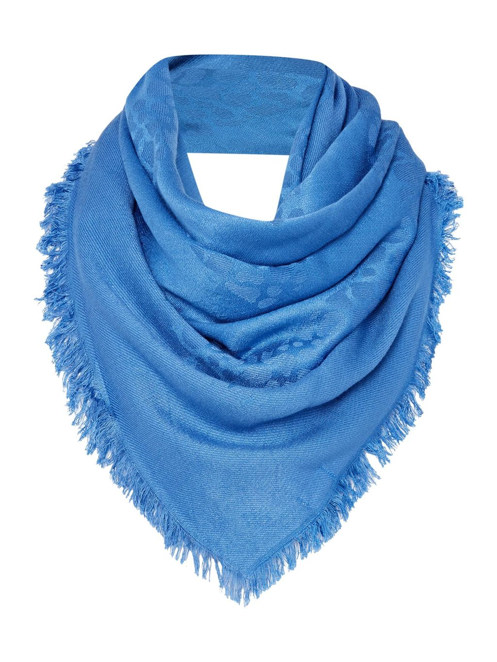 Leopard Matt And Shine Jacquard Scarf, Blue - predominant colour: diva blue; type of pattern: light; style: regular; size: standard; material: fabric; embellishment: fringing; pattern: patterned/print; occasions: creative work; season: s/s 2016; wardrobe: highlight