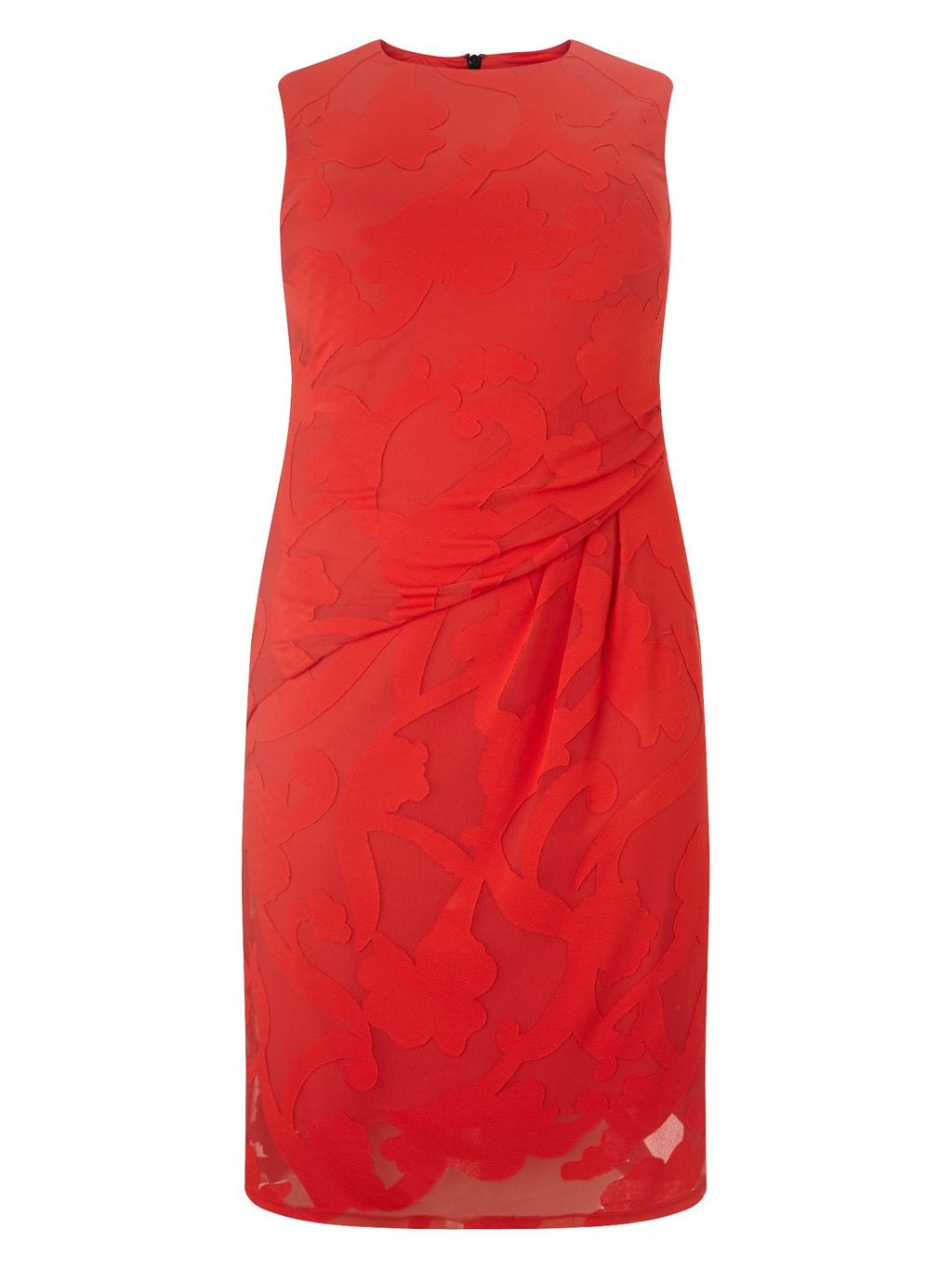 Isadora Dress, Pink - style: shift; neckline: round neck; pattern: plain; sleeve style: sleeveless; predominant colour: true red; occasions: evening, occasion; length: just above the knee; fit: body skimming; fibres: polyester/polyamide - 100%; hip detail: adds bulk at the hips; sleeve length: sleeveless; pattern type: fabric; texture group: other - light to midweight; season: s/s 2016; wardrobe: event