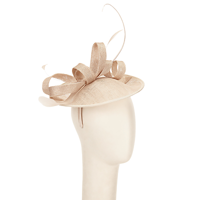 Beatrice 2 Disc Hat Fascinator - predominant colour: ivory/cream; occasions: occasion; type of pattern: standard; style: fascinator; size: standard; material: macrame/raffia/straw; pattern: plain; embellishment: feather; season: s/s 2016; wardrobe: event