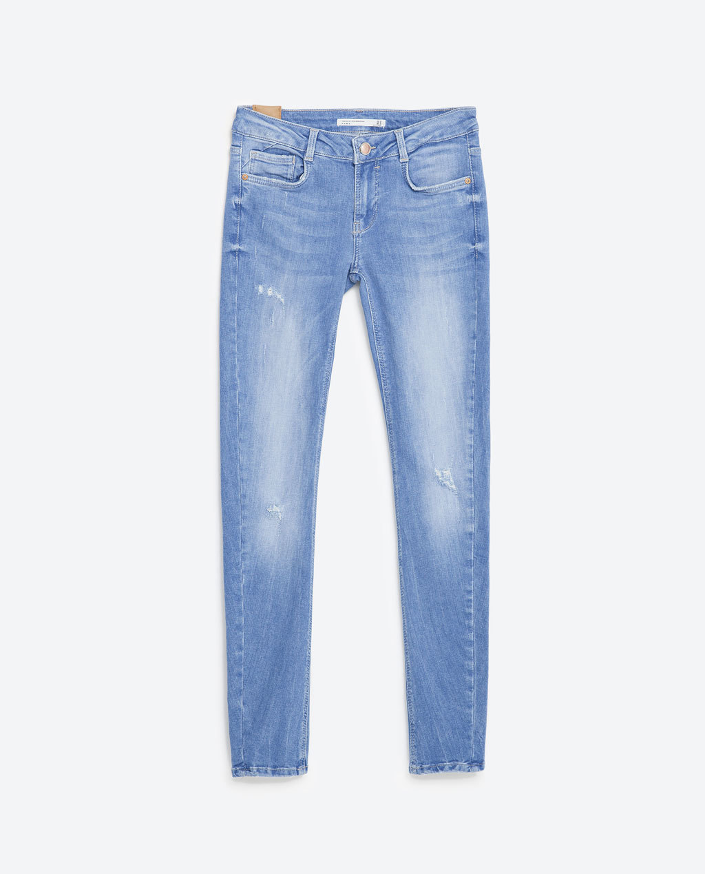 Push Up Embrace Jeans - style: skinny leg; length: standard; pattern: plain; pocket detail: traditional 5 pocket; waist: mid/regular rise; predominant colour: denim; occasions: casual; fibres: cotton - stretch; jeans detail: washed/faded; texture group: denim; pattern type: fabric; season: s/s 2016