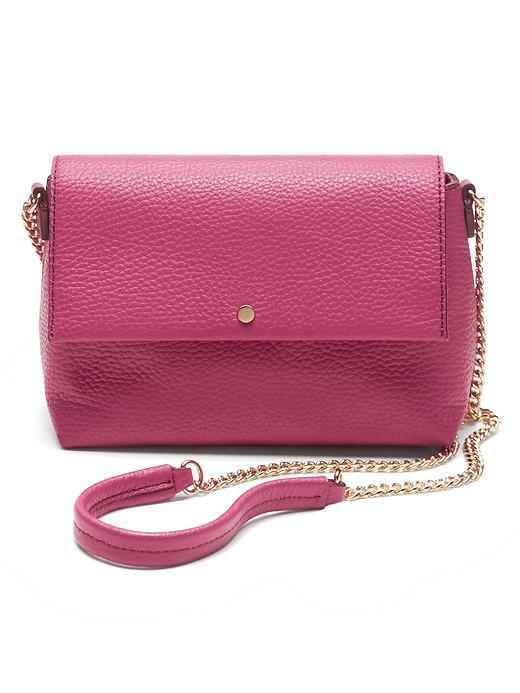 Black Italian Leather Chain Bag Pop Pink - predominant colour: hot pink; type of pattern: standard; style: messenger; length: across body/long; size: standard; material: leather; pattern: plain; finish: plain; occasions: creative work; season: s/s 2016; wardrobe: highlight