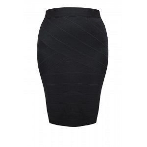 Bandage Skirt - pattern: plain; fit: tailored/fitted; waist: high rise; predominant colour: black; occasions: work; length: just above the knee; style: tube; pattern type: fabric; texture group: woven light midweight; fibres: viscose/rayon - mix; season: s/s 2016; wardrobe: basic