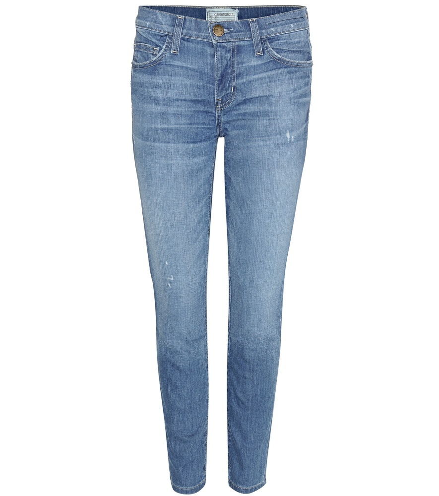 The Stiletto Skinny Jeans - style: skinny leg; length: standard; pattern: plain; pocket detail: traditional 5 pocket; waist: mid/regular rise; predominant colour: denim; occasions: casual; fibres: cotton - stretch; jeans detail: whiskering, shading down centre of thigh; texture group: denim; pattern type: fabric; season: s/s 2016; wardrobe: basic