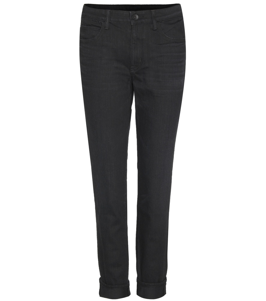 Ankle Skinny Cropped Jeans - style: skinny leg; length: standard; pattern: plain; pocket detail: traditional 5 pocket; waist: mid/regular rise; predominant colour: black; occasions: casual; fibres: cotton - stretch; texture group: denim; pattern type: fabric; season: s/s 2016; wardrobe: basic