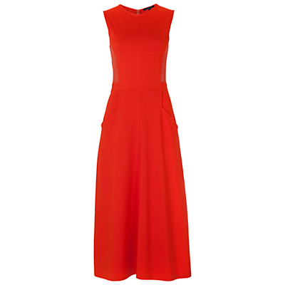 Beau Maxi Dress, Masai Red - style: ballgown; length: calf length; pattern: plain; sleeve style: sleeveless; predominant colour: true red; occasions: evening, occasion; fit: fitted at waist & bust; fibres: viscose/rayon - stretch; neckline: crew; sleeve length: sleeveless; pattern type: fabric; texture group: jersey - stretchy/drapey; season: s/s 2016; wardrobe: event