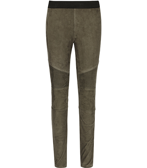 Felice Suede Suede Biker Leggings - length: standard; pattern: plain; style: leggings; waist: mid/regular rise; predominant colour: stone; occasions: casual; fibres: leather - 100%; fit: skinny/tight leg; pattern type: fabric; texture group: suede; season: s/s 2016; wardrobe: highlight