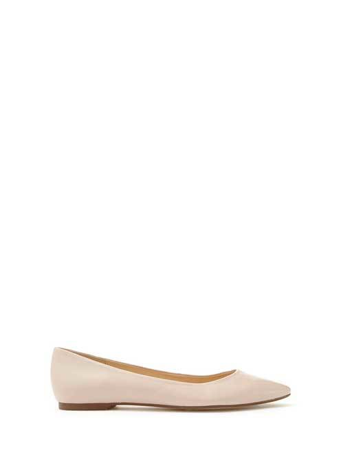 Nude Nika Pointed Ballet Pump - predominant colour: nude; occasions: casual, creative work; material: leather; heel height: flat; toe: round toe; style: ballerinas / pumps; finish: plain; pattern: plain; season: s/s 2016; wardrobe: basic