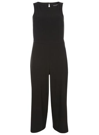 Womens Black Back Detail Jumpsuit Black - length: standard; neckline: round neck; fit: tailored/fitted; pattern: plain; sleeve style: sleeveless; predominant colour: black; occasions: evening, occasion; fibres: polyester/polyamide - stretch; sleeve length: sleeveless; style: jumpsuit; pattern type: fabric; texture group: other - light to midweight; season: s/s 2016; wardrobe: event