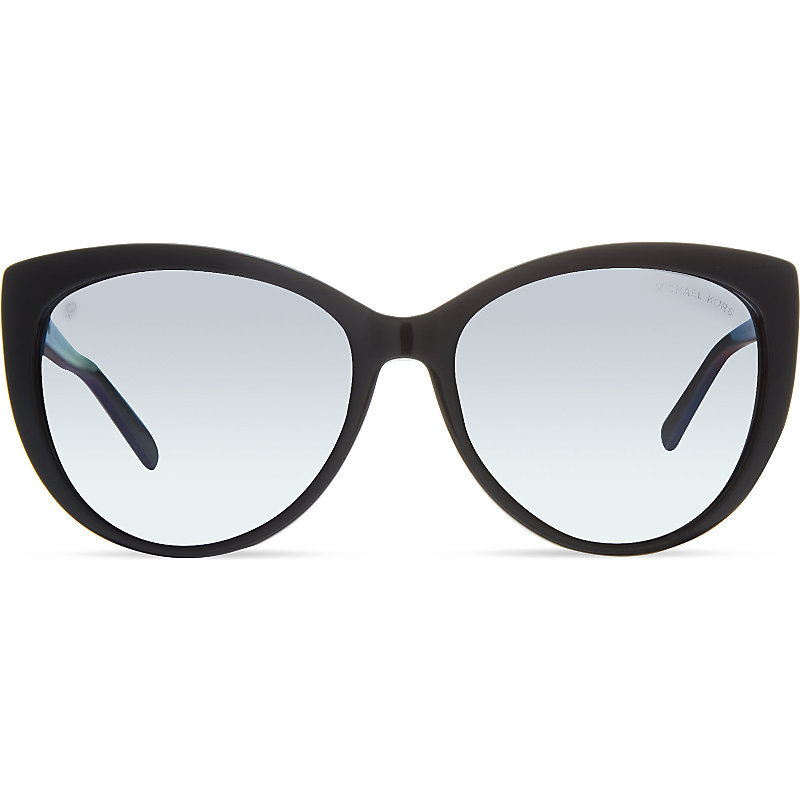 Mk2009 56 Gstaad Cat Eye Sunglasses, Women's, 3005t3black - predominant colour: black; occasions: casual, holiday; style: cateye; size: large; material: plastic/rubber; pattern: plain; finish: plain; season: s/s 2016