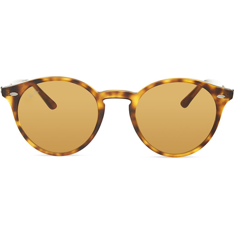 Rb2180 Round Sunglasses, Women's, 710/73brown - predominant colour: tan; occasions: casual, holiday; style: round; size: standard; material: plastic/rubber; pattern: tortoiseshell; finish: plain; season: s/s 2016