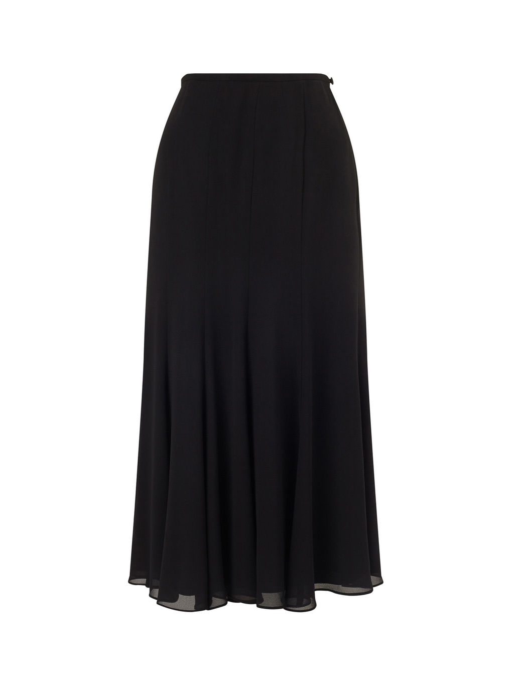 Multi Godet Skirt - pattern: plain; length: ankle length; fit: loose/voluminous; waist: high rise; predominant colour: black; occasions: casual; style: maxi skirt; fibres: polyester/polyamide - 100%; texture group: crepes; pattern type: fabric; season: s/s 2016