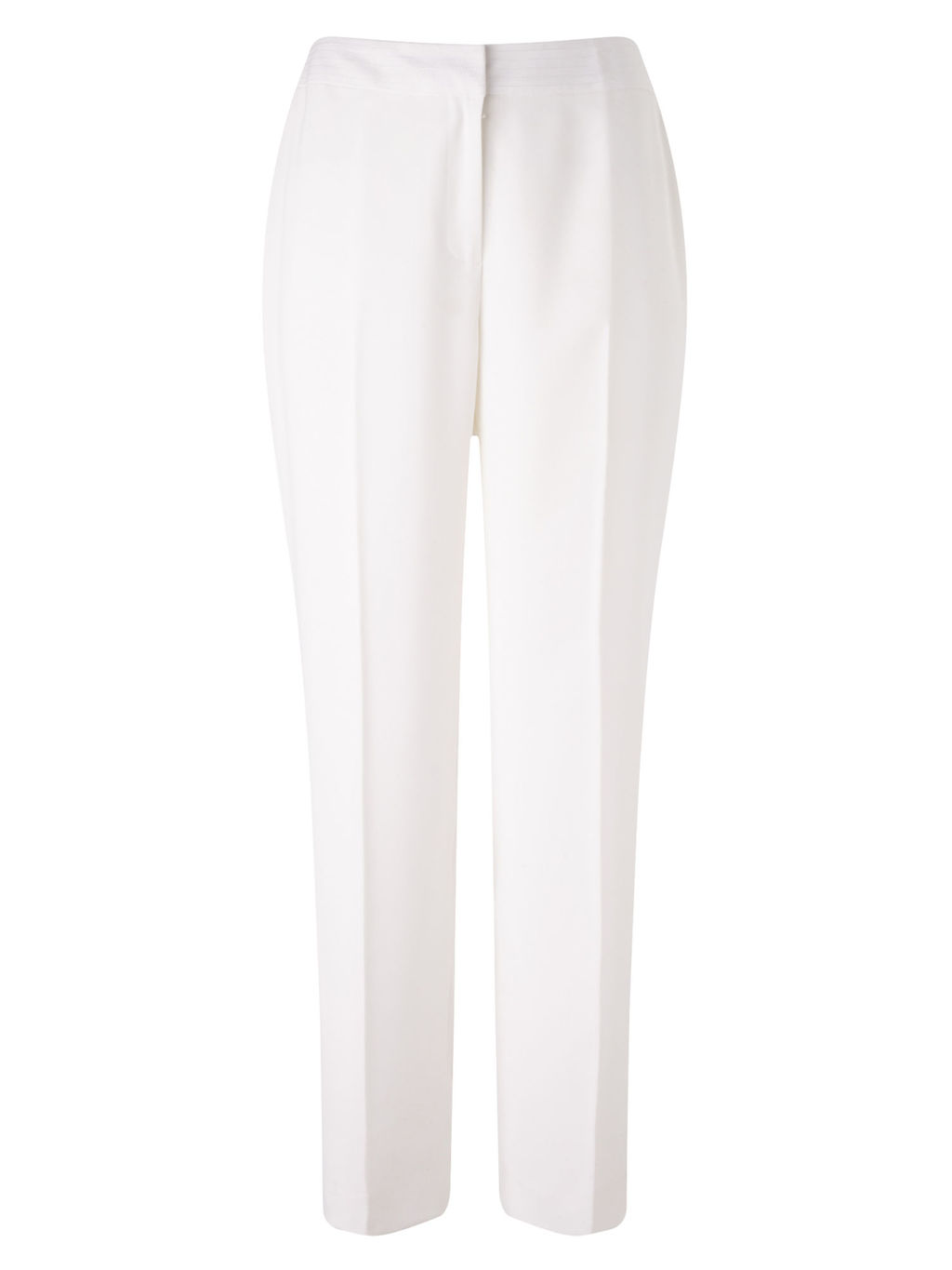 Occasion Trousers, Ivory - pattern: plain; style: peg leg; waist: mid/regular rise; predominant colour: white; length: ankle length; fibres: polyester/polyamide - 100%; occasions: occasion; fit: tapered; pattern type: fabric; texture group: other - light to midweight; season: s/s 2016; wardrobe: event