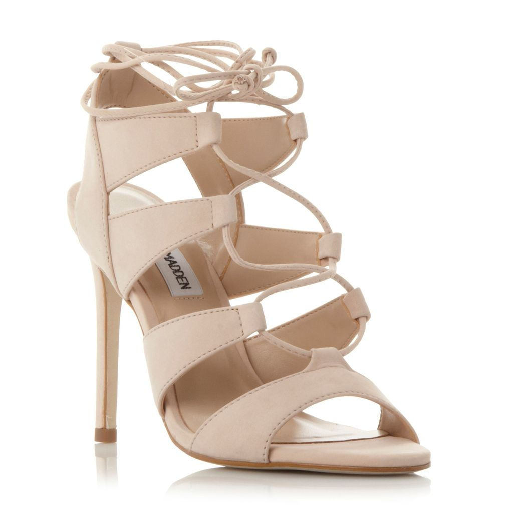 Sandalia Ghillie Lace Up Sandals, Natural - predominant colour: nude; occasions: evening, occasion; material: leather; heel height: high; ankle detail: ankle tie; heel: stiletto; toe: open toe/peeptoe; style: strappy; finish: plain; pattern: plain; season: s/s 2016; wardrobe: event