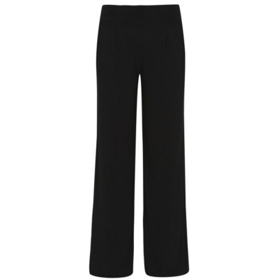 Crepe Wide Legged Trousers Black - length: standard; pattern: plain; waist: mid/regular rise; predominant colour: black; occasions: casual; fibres: polyester/polyamide - stretch; fit: wide leg; pattern type: fabric; texture group: other - light to midweight; style: standard; season: s/s 2016; wardrobe: basic