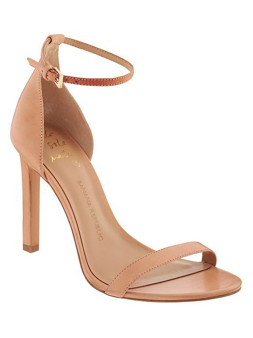 Holland Heeled Sandal Vachetta - predominant colour: nude; occasions: evening, occasion; material: leather; heel height: high; ankle detail: ankle strap; heel: stiletto; toe: open toe/peeptoe; style: strappy; finish: plain; pattern: plain; season: s/s 2016; wardrobe: event