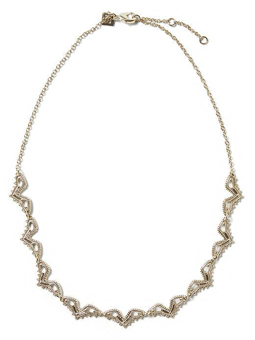 Lace Delicate Necklace Gold - predominant colour: gold; occasions: evening, occasion; length: short; size: standard; material: chain/metal; finish: metallic; embellishment: crystals/glass; season: s/s 2016; style: chain (no pendant); wardrobe: event