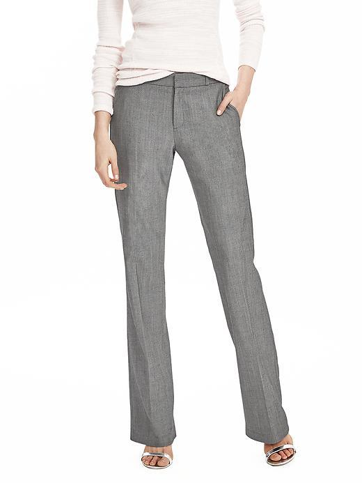 Logan Fit Gray Lightweight Wool Trouser Gray - length: standard; waist: mid/regular rise; predominant colour: mid grey; occasions: work; fibres: wool - mix; waist detail: feature waist detail; fit: straight leg; pattern type: fabric; texture group: woven light midweight; style: standard; pattern: marl; pattern size: light/subtle (bottom); season: s/s 2016; wardrobe: basic