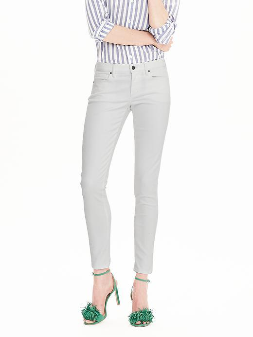 White Skinny Ankle Jean Lily Wash - style: skinny leg; pattern: plain; pocket detail: traditional 5 pocket; waist: mid/regular rise; predominant colour: light grey; occasions: casual; length: ankle length; fibres: cotton - stretch; texture group: denim; pattern type: fabric; season: s/s 2016; wardrobe: highlight