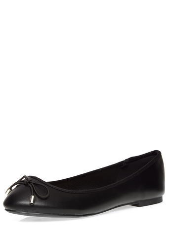 Womens Dorothy Perkins Wide Fit Black 'willow' Pumps, Black - predominant colour: black; occasions: casual, creative work; material: faux leather; heel height: flat; toe: round toe; style: ballerinas / pumps; finish: plain; pattern: plain; season: s/s 2016; wardrobe: basic