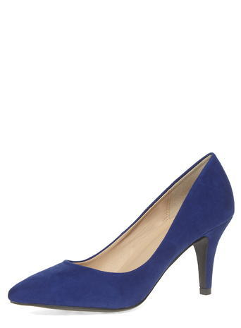 Womens Dorothy Perkins Cobalt Blue Mid Pointed Court Shoes, Cobalt - predominant colour: royal blue; occasions: work, creative work; material: suede; heel height: high; heel: stiletto; toe: pointed toe; style: courts; finish: plain; pattern: plain; season: s/s 2016