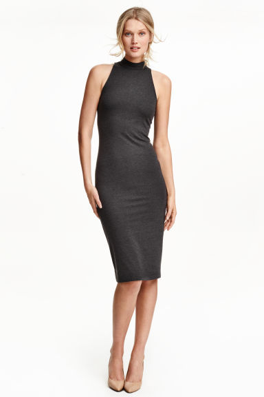 Turtleneck Dress - fit: tight; pattern: plain; sleeve style: sleeveless; neckline: high neck; style: bodycon; predominant colour: black; occasions: evening; length: on the knee; fibres: polyester/polyamide - stretch; sleeve length: sleeveless; texture group: jersey - clingy; pattern type: fabric; season: s/s 2016; wardrobe: event