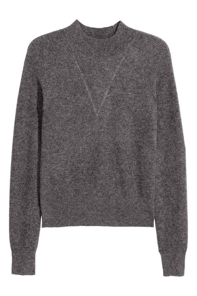Cashmere Jumper - neckline: round neck; pattern: plain; style: standard; predominant colour: charcoal; occasions: casual, creative work; length: standard; fit: standard fit; fibres: cashmere - 100%; sleeve length: long sleeve; sleeve style: standard; texture group: knits/crochet; pattern type: knitted - fine stitch; season: s/s 2016