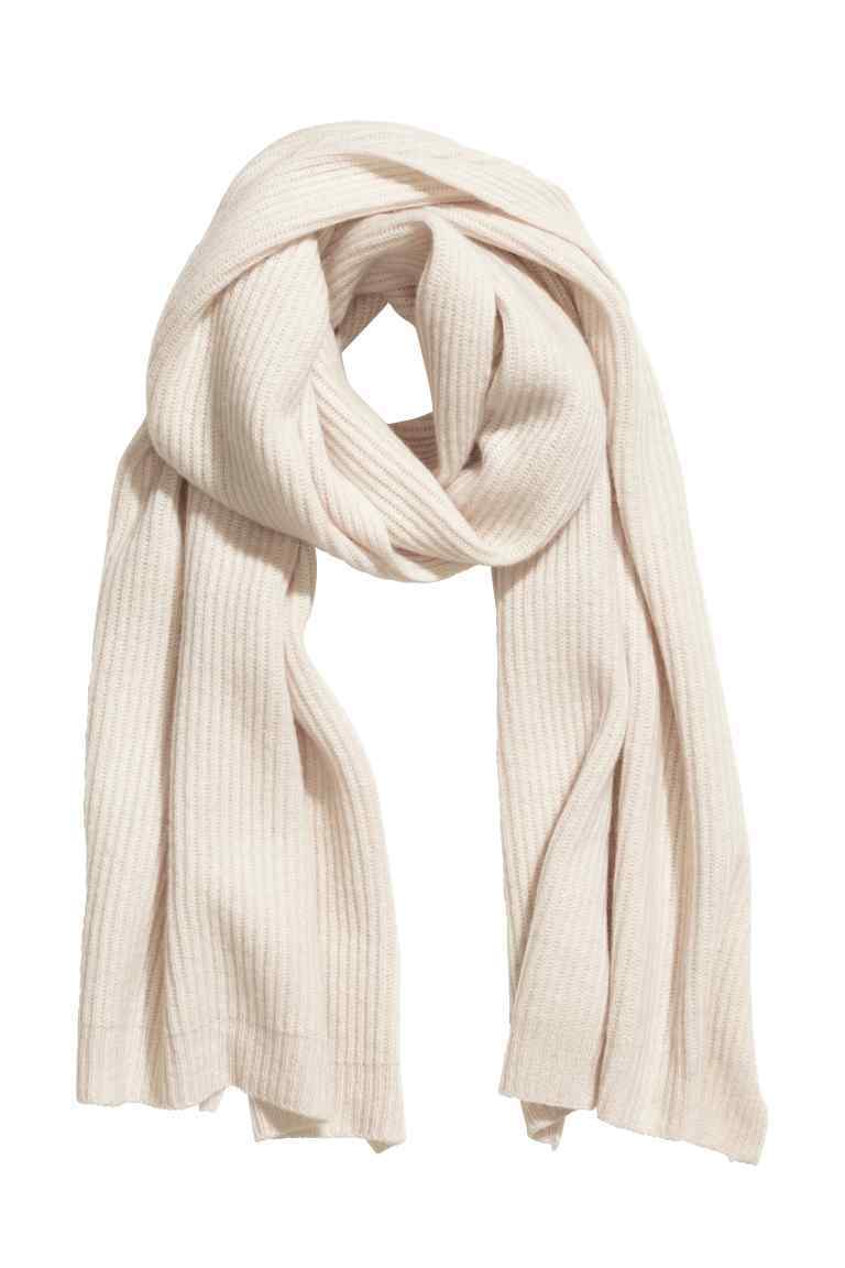 Scarf In A Cashmere Blend - predominant colour: ivory/cream; occasions: casual; type of pattern: standard; style: regular; size: standard; pattern: plain; material: cashmere; season: s/s 2016; wardrobe: investment