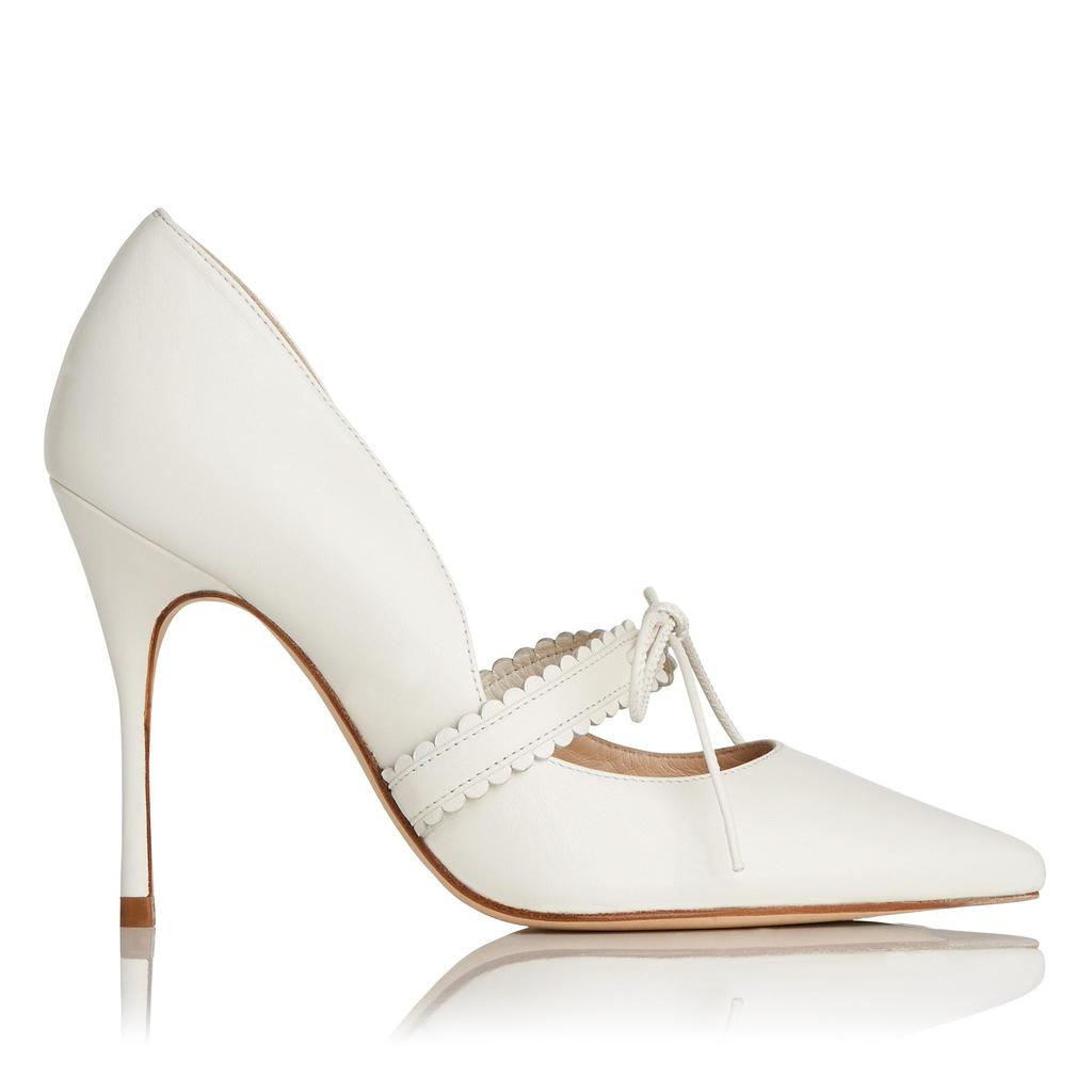 January Leather Courts White Cream - predominant colour: ivory/cream; occasions: evening, occasion; material: leather; heel: stiletto; toe: pointed toe; style: courts; finish: plain; pattern: plain; heel height: very high; season: s/s 2016; wardrobe: event