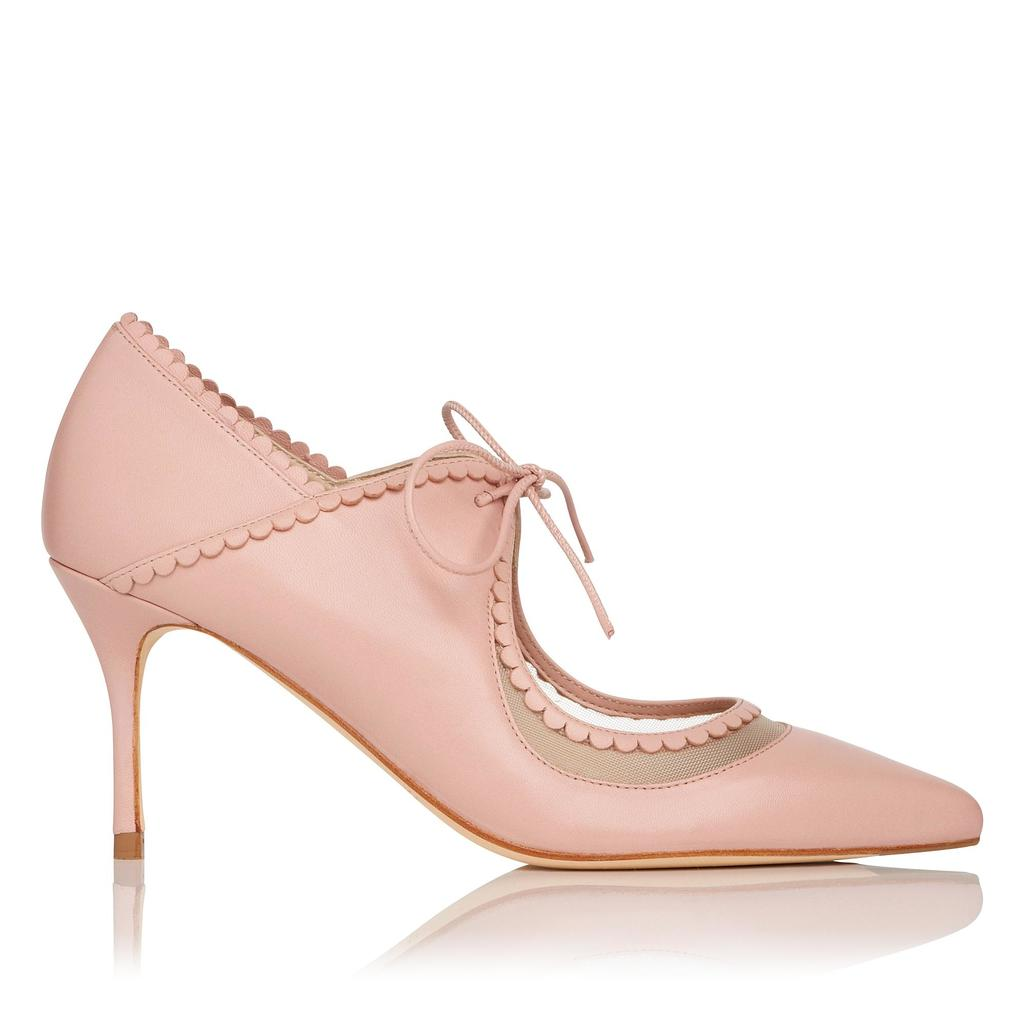 Betty Leather Courts Pink Pastel Pink - predominant colour: blush; occasions: evening, occasion, creative work; material: leather; heel height: high; heel: stiletto; toe: pointed toe; style: courts; finish: plain; pattern: plain; season: s/s 2016