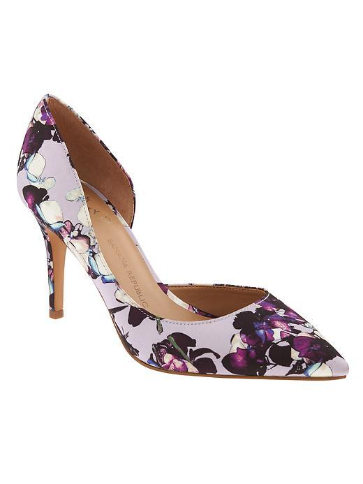 Andilla D'orsay Pump Lilac Blush - secondary colour: aubergine; predominant colour: lilac; occasions: evening, occasion; material: fabric; heel height: high; heel: stiletto; toe: pointed toe; style: courts; finish: plain; pattern: florals; season: s/s 2016; wardrobe: event
