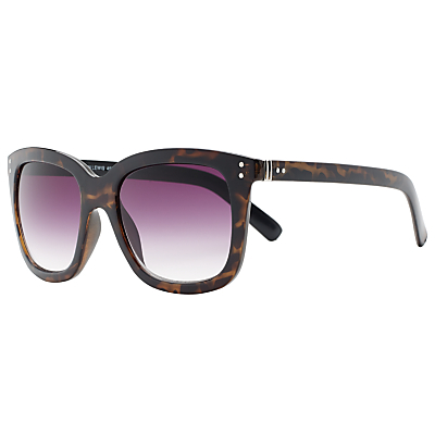 Shiny Square Gradient Sunglasses, Tortoise - predominant colour: chocolate brown; occasions: casual, holiday; style: square; size: standard; material: plastic/rubber; pattern: tortoiseshell; finish: plain; season: s/s 2016; wardrobe: basic